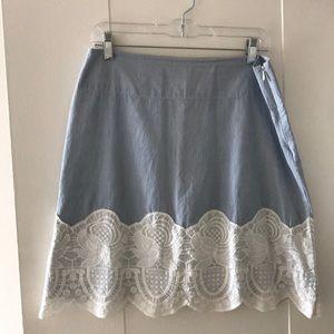 Anthropologie lightweight cotton skirt